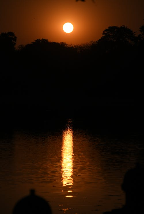 #日没の無料の写真素材
