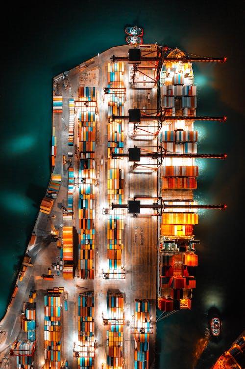 Foto profissional grátis de aerofotografia, carga, carregamento
