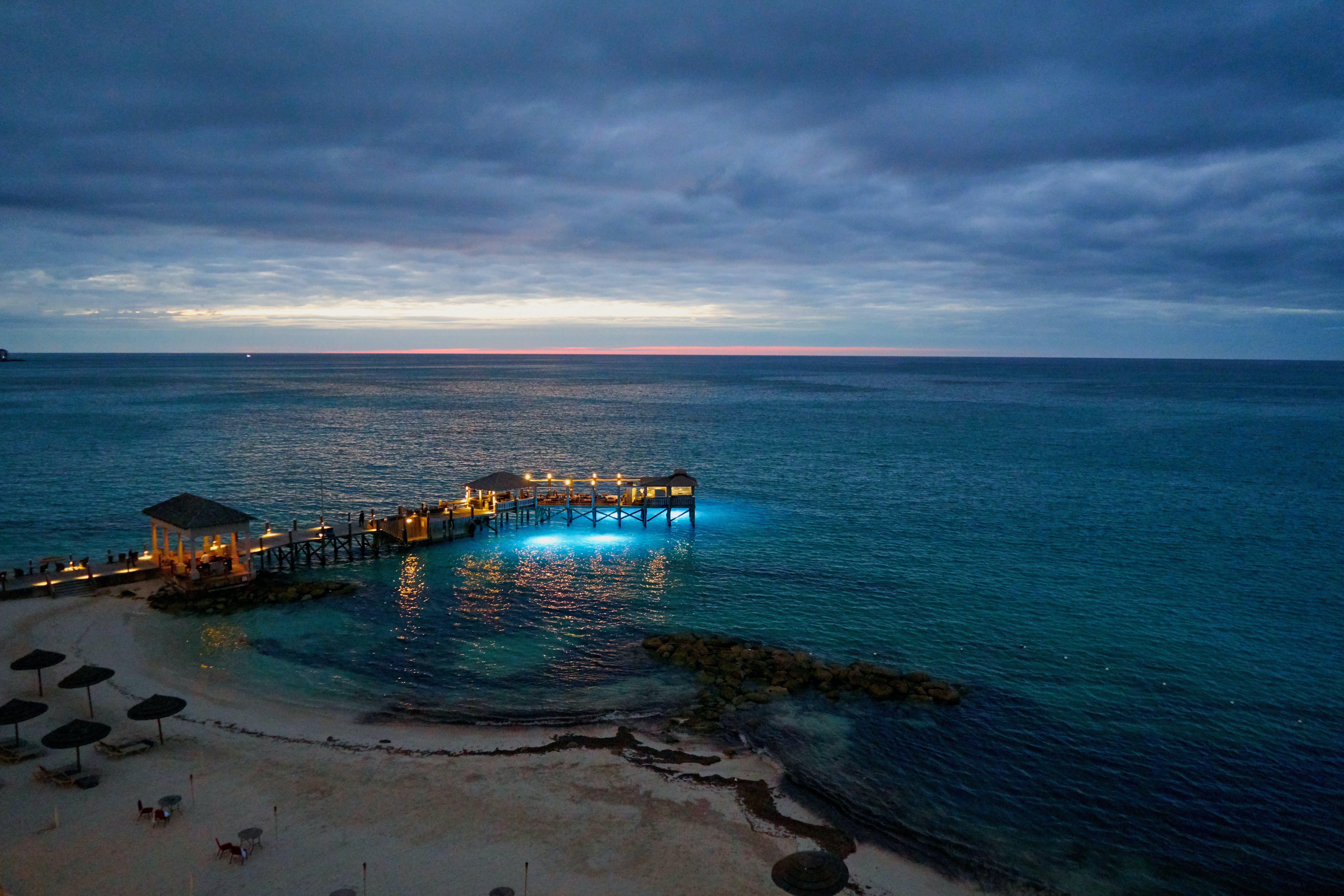Foto d'estoc gratuïta de aigua, bahames, mar, núvols