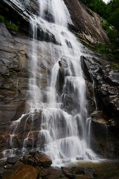 Timelapse Photography of Waterfalls Rushing Down on Rocks