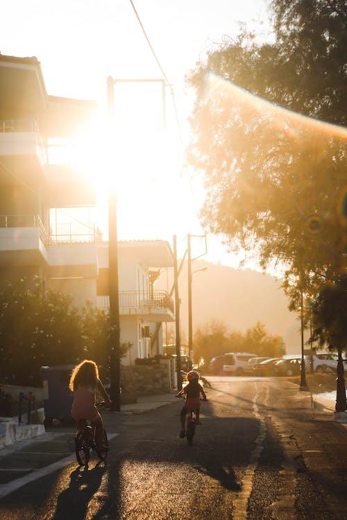 Immagine gratuita di alba, azione, bicicletta