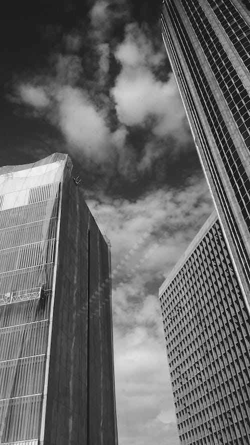 Imagine de stoc gratuită din alb-negru, arhitectură, centrul orașului, clădiri