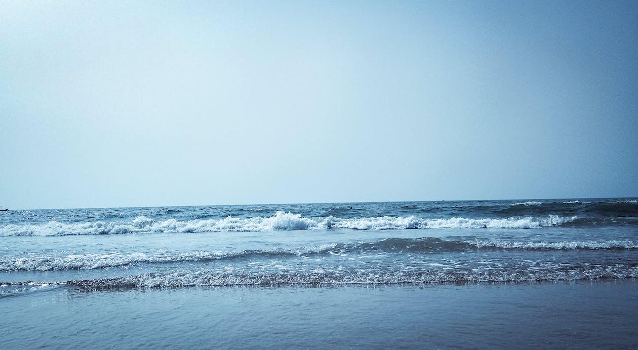 ég, homok, horizont