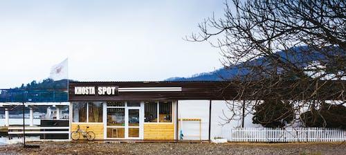 Fotobanka sbezplatnými fotkami na tému budova, deň, kaviareň, stromy