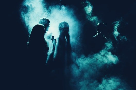 Free stock photo of light, people, dark, smoke
