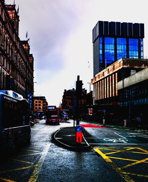Free stock photo of blue, build, centre, city