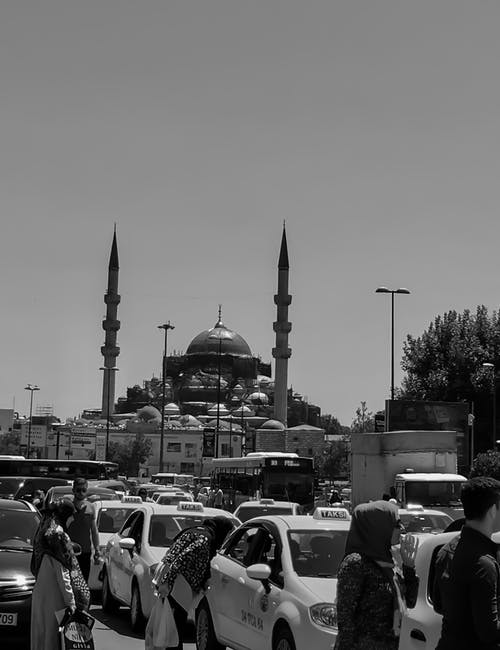 Free stock photo of black and white, cars, city, Istanbul