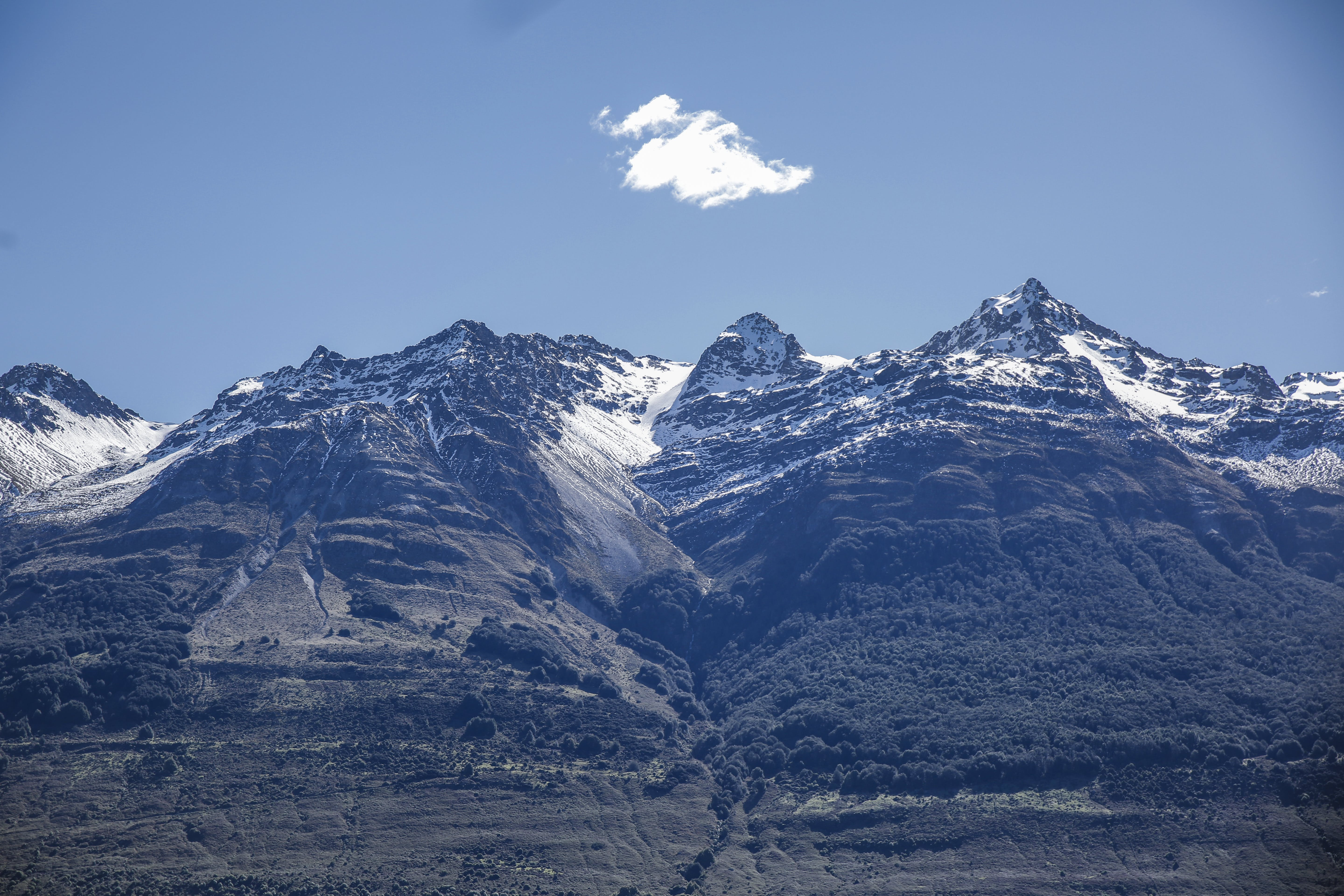 Free stock photo of snow, mountain, clear sky, queenstown