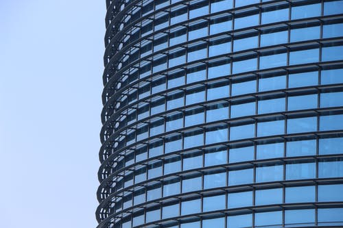 建物, 近代建築, 鏡, 青の無料の写真素材