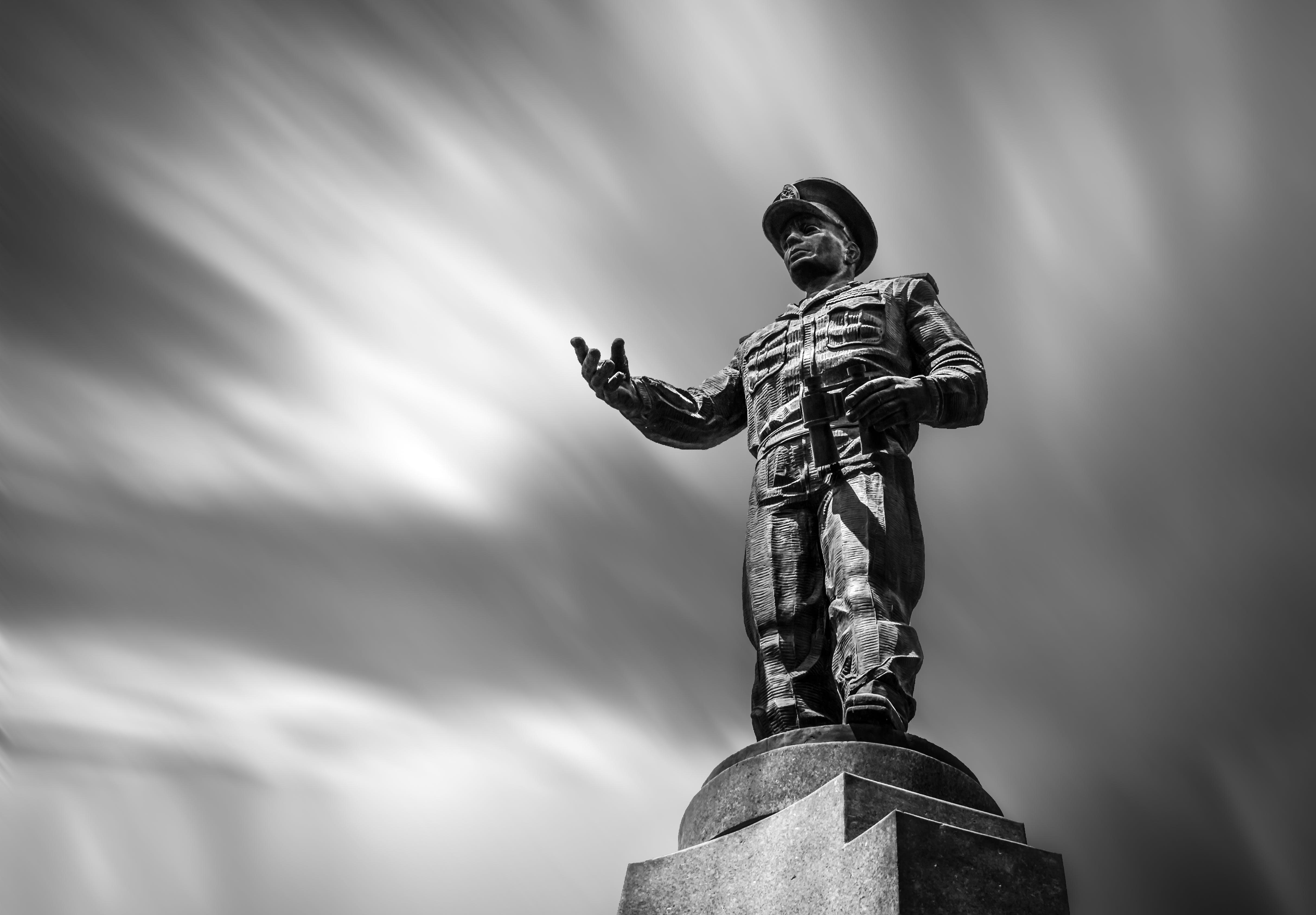 art, black and white, blurred background