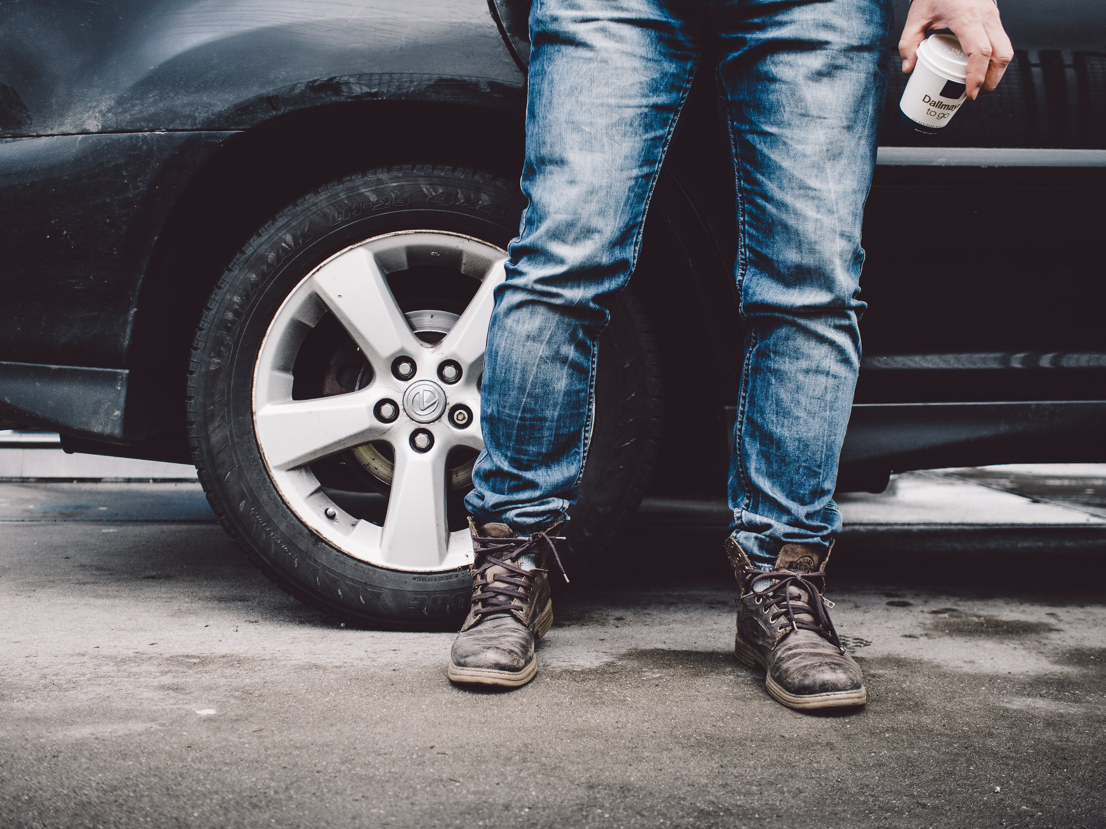 Free stock photo of fashion, car, jeans, shoes