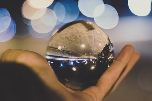 Crystal Ball on Person's Hand