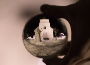 Fish-eye Photography of White Concrete Building