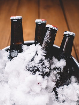 Free stock photo of bottles, beer, ice, beverage