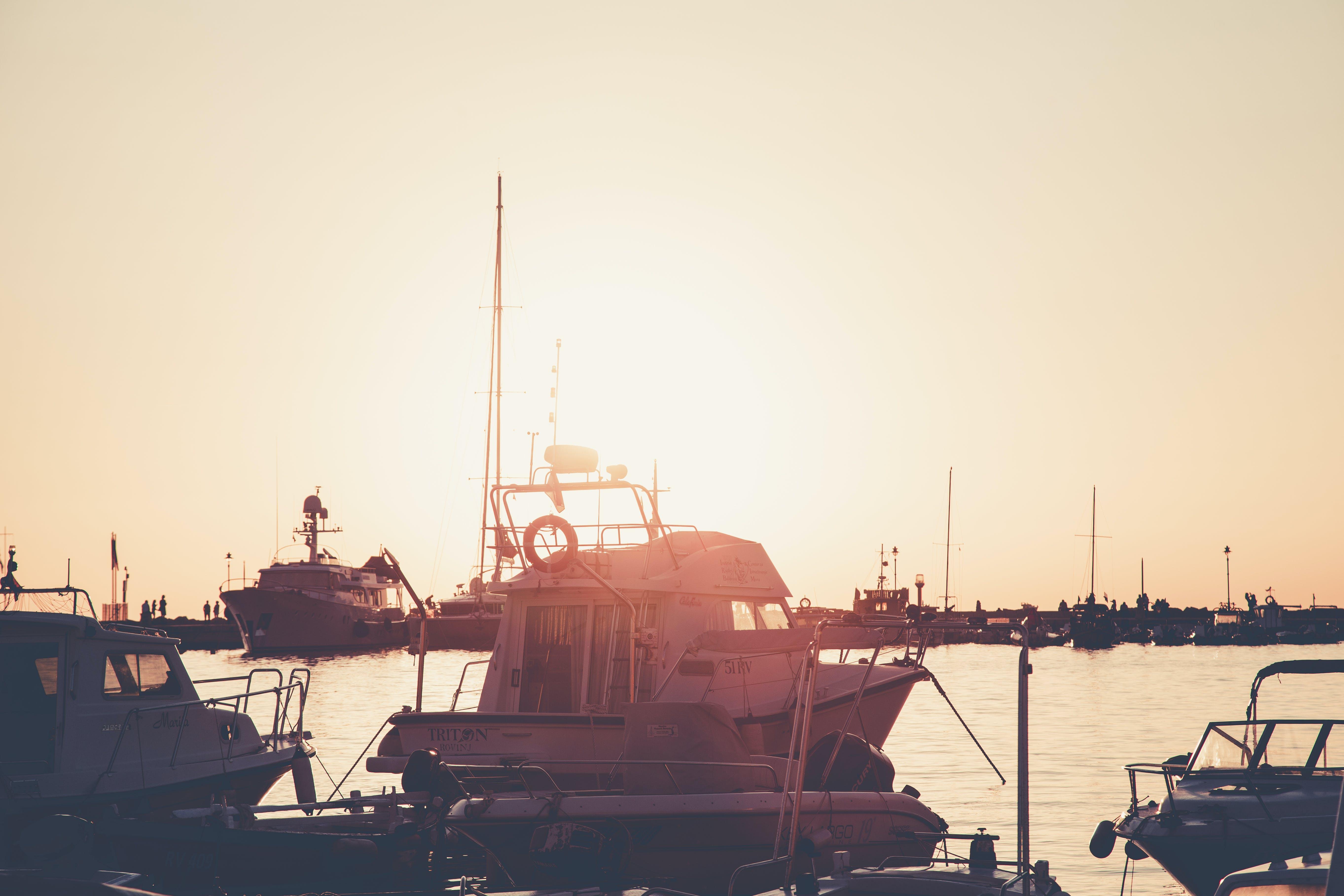 White Yacht Anchorage in Port