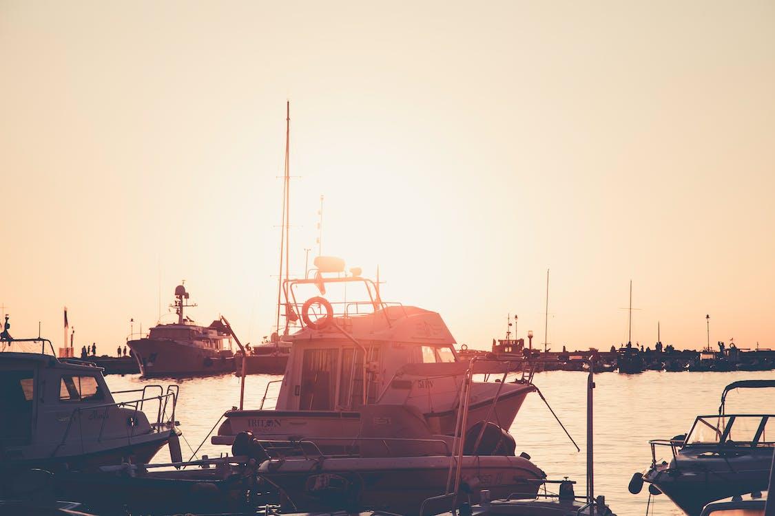 aigua, badia, barques