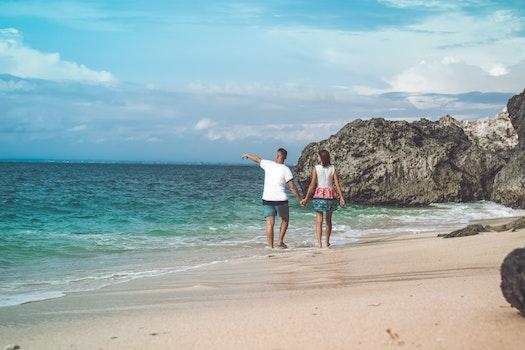Kostenloses Stock Foto zu meer, landschaft, mann, strand