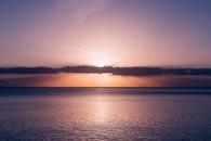 sea, sunset, water