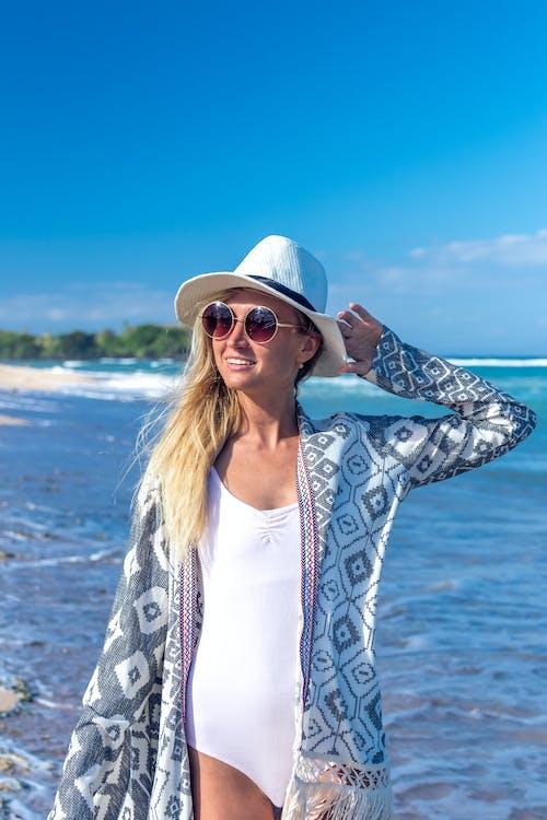 Woman in One-piece BIkini Wear