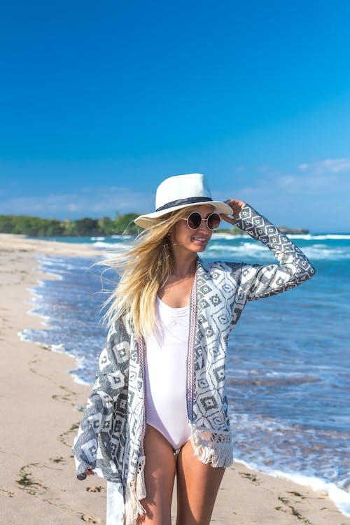 Woman in Boho Style Beach Wear