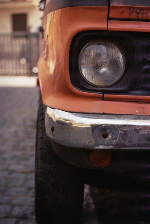 Close Up Shot of a Headlight