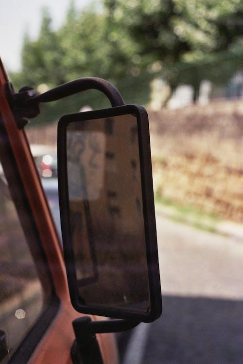 Free stock photo of back view mirror, bokeh, wing mirror
