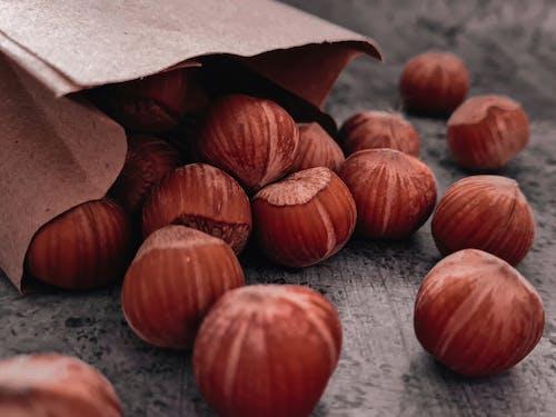 Close Up Shot of Hazelnuts