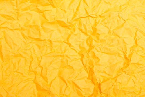 Crinkled Yellow Paper