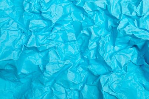 Crinkled Light Blue Paper