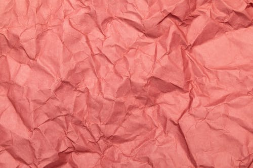 Close-up Photo of Crinkled Pink Paper
