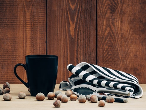 Free stock photo of coffee, mug, tea, nuts