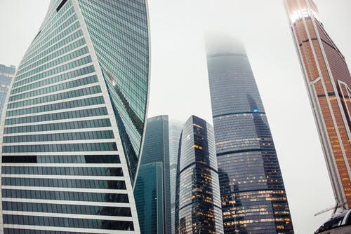 低角度拍攝, 反射, 城市 的 免費圖庫相片