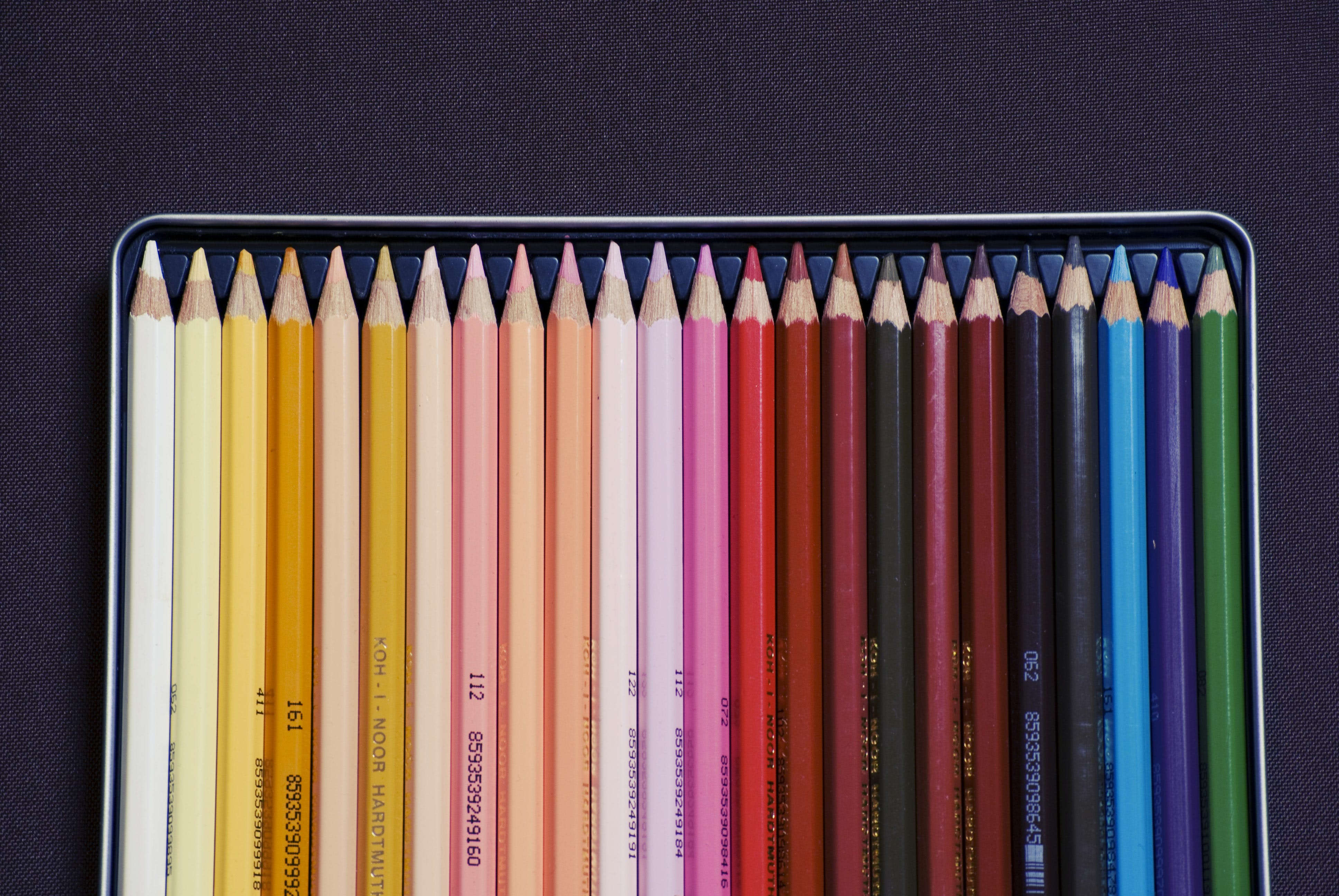 Free stock photo of pens, school, colorful, colourful