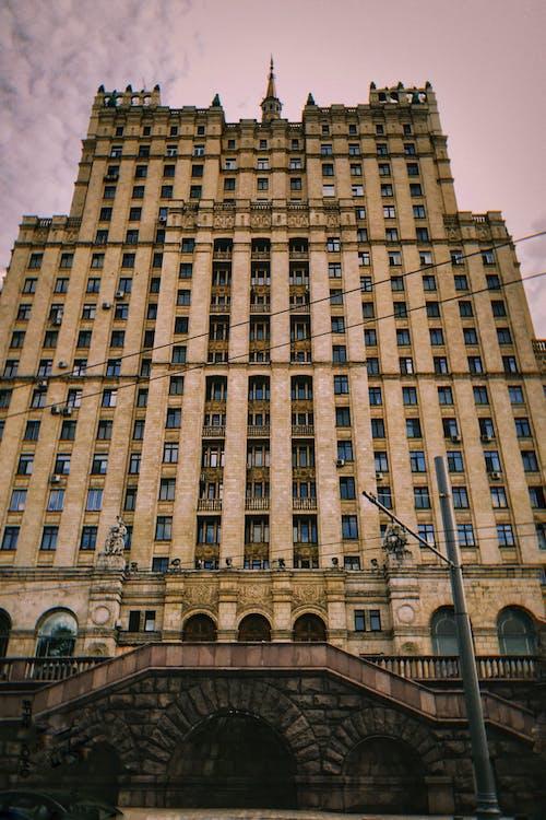 クドリンスカヤ広場の建物, モスクワ, ランドマークの無料の写真素材