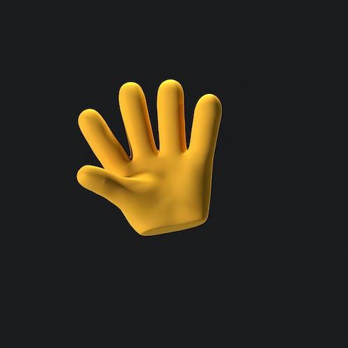 Foto profissional grátis de Alô, ilustração 3d, mão