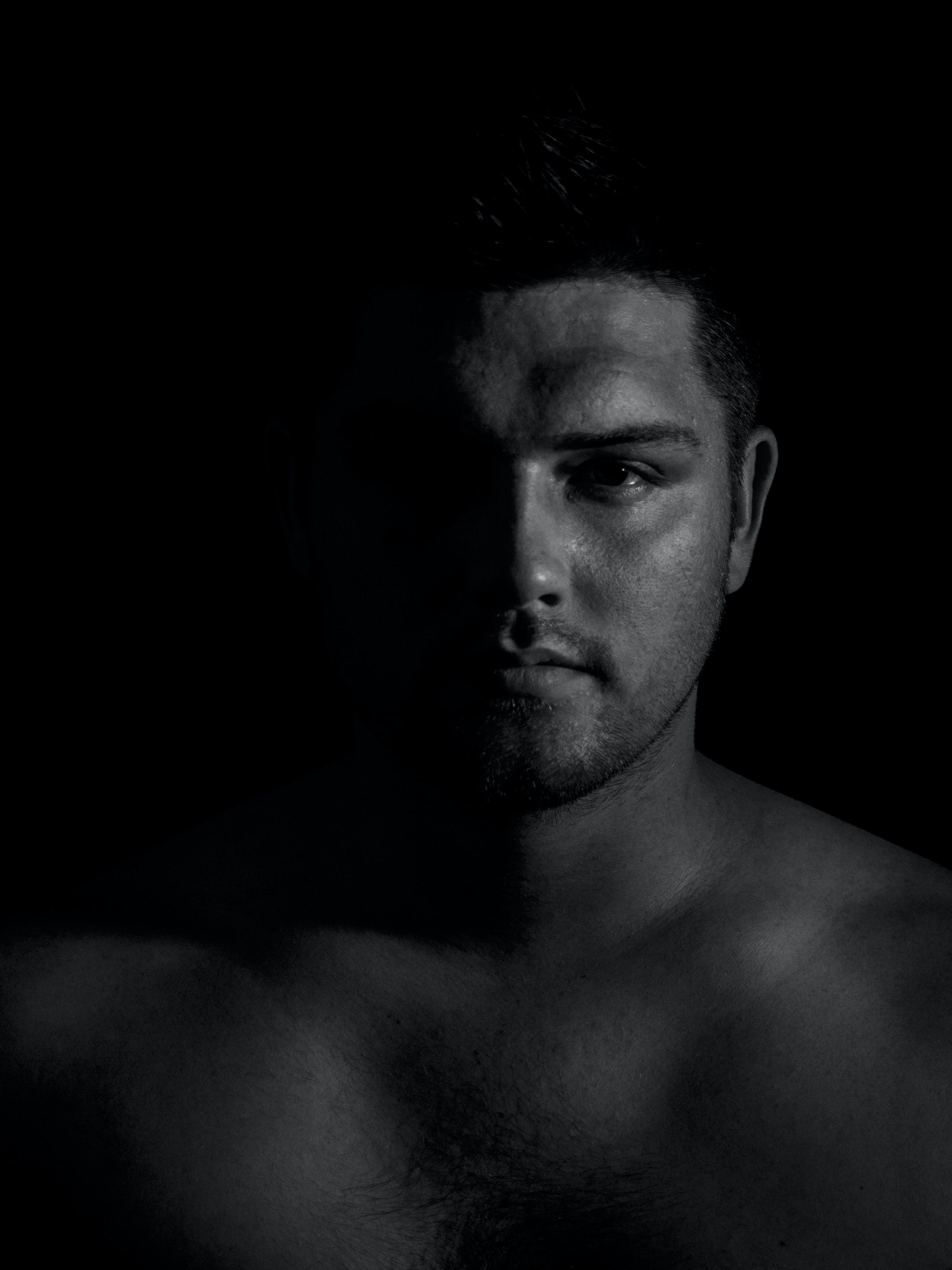 Free stock photo of b&w, beard, black, black and white