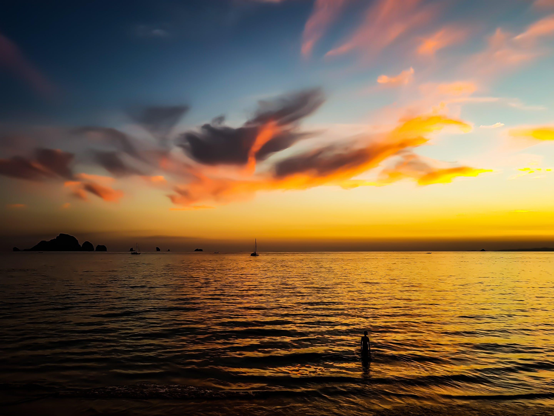 Foto stok gratis air, alam, Fajar, horison