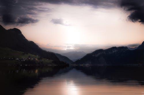 光反射, 反射, 天空, 山 的 免費圖庫相片