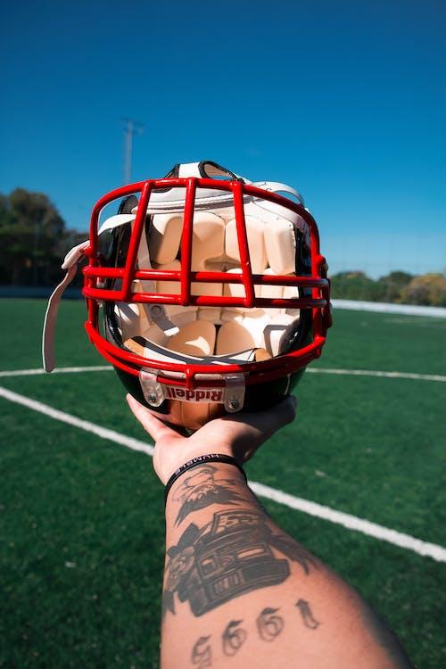 Foto stok gratis atlet, bidang, bola