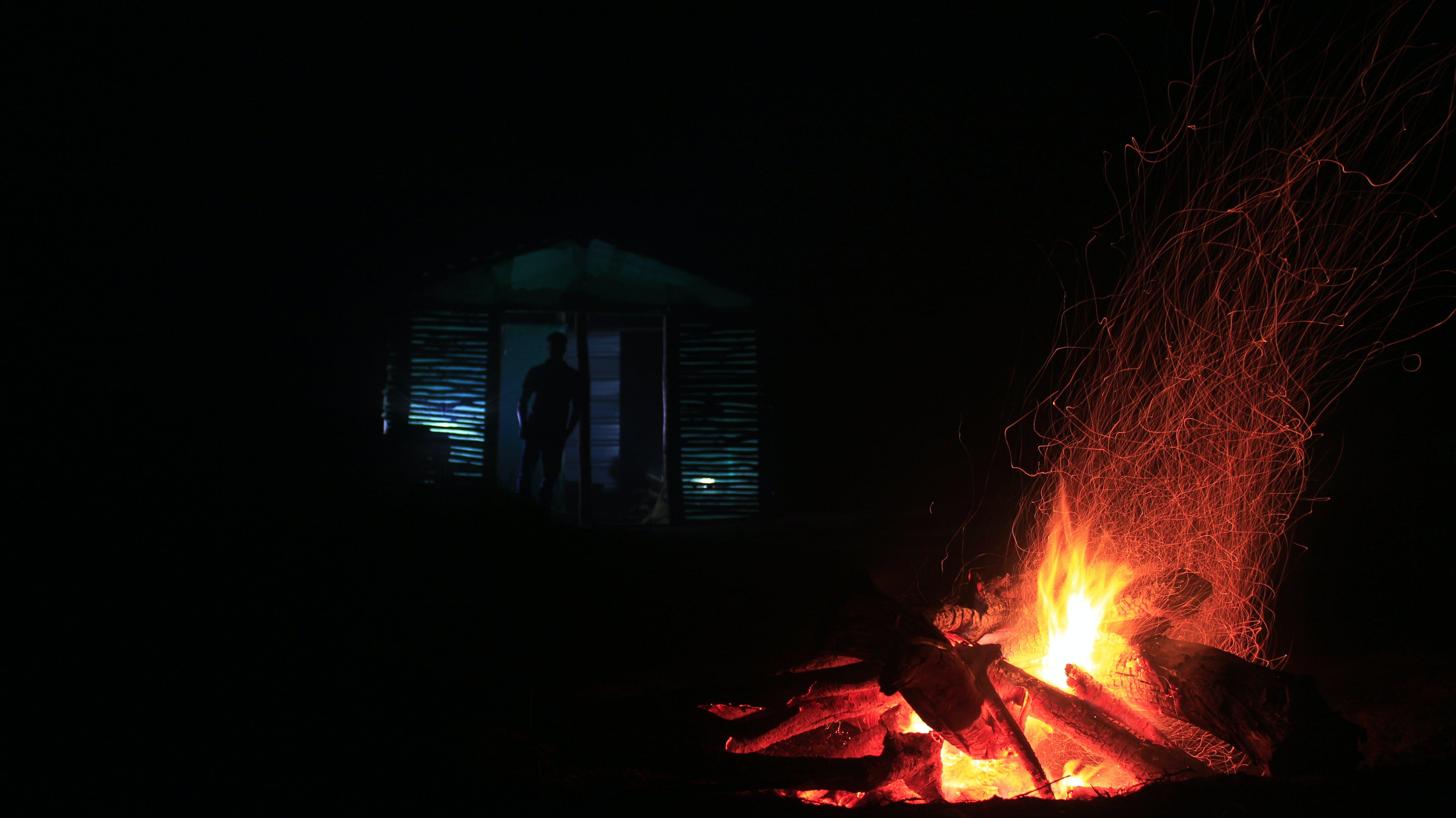 Free stock photo of black, bonfire, burnt, camp