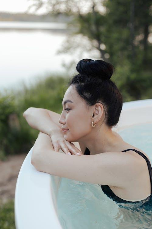 Gratis stockfoto met aantrekkelijk mooi, Aziatisch, bubbelbad