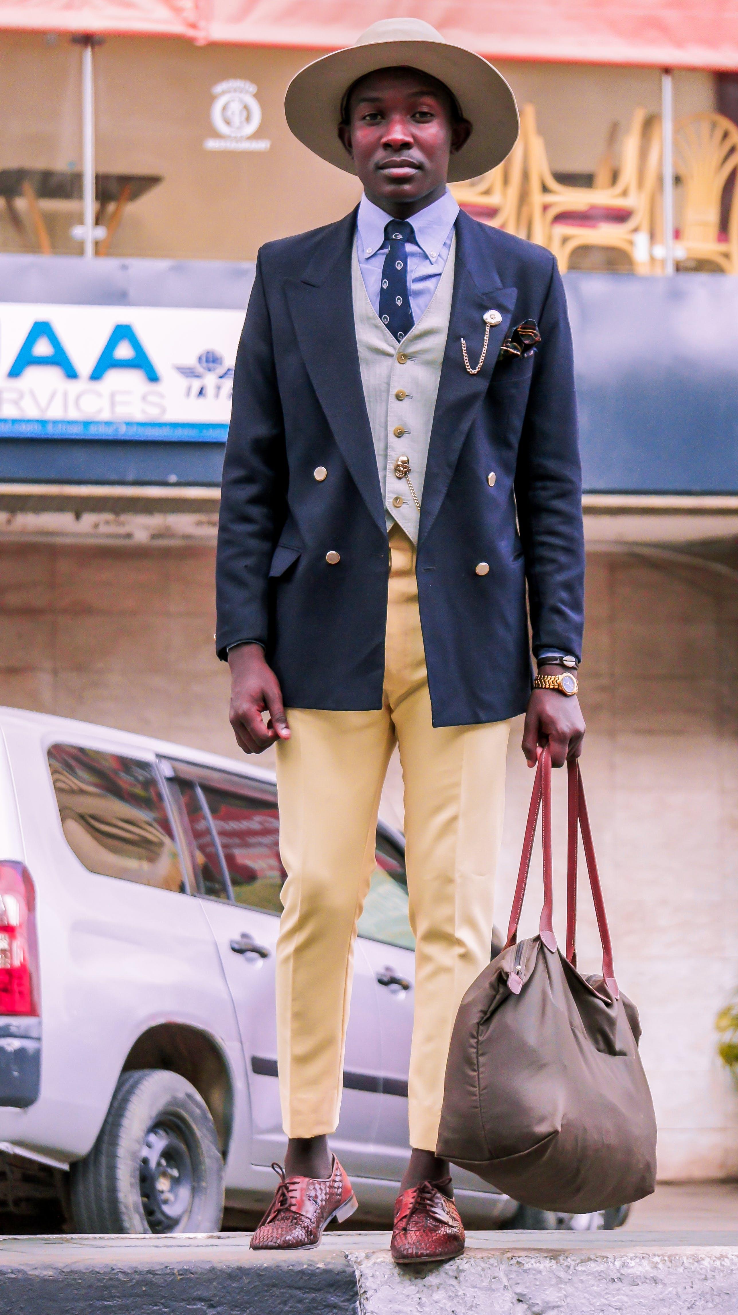Free stock photo of fashion, man, suit, street