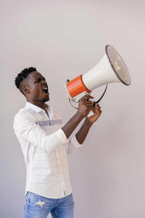 Foto stok gratis Amerika Afrika, berteriak, ekspresif