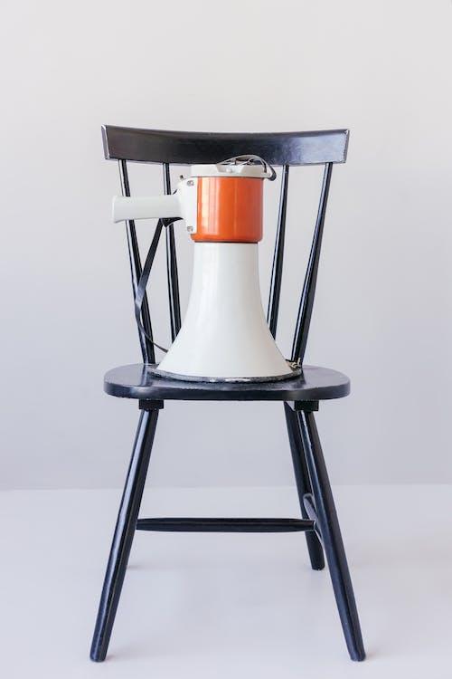 Black and Orange Bar Seat