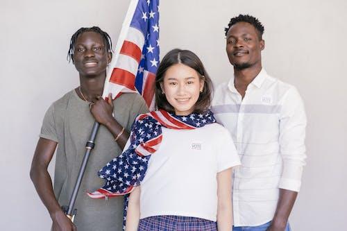 Fotos de stock gratuitas de asta de bandera, bandera estadounidense, concepto