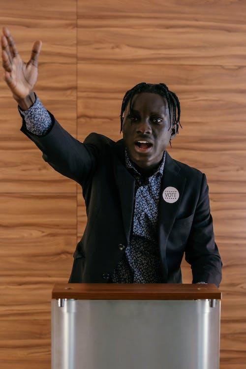 Politician Doing an Inaugural Speech