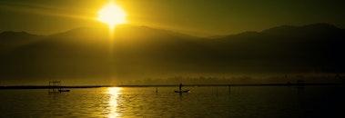fishing, sea, nature