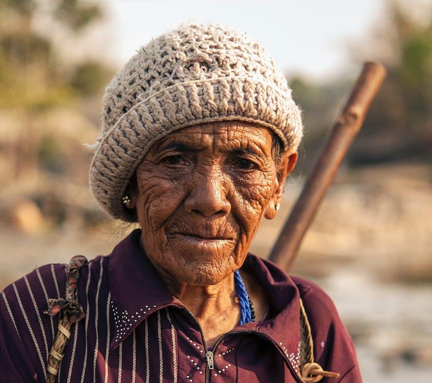 женщина, морщины, пожилой