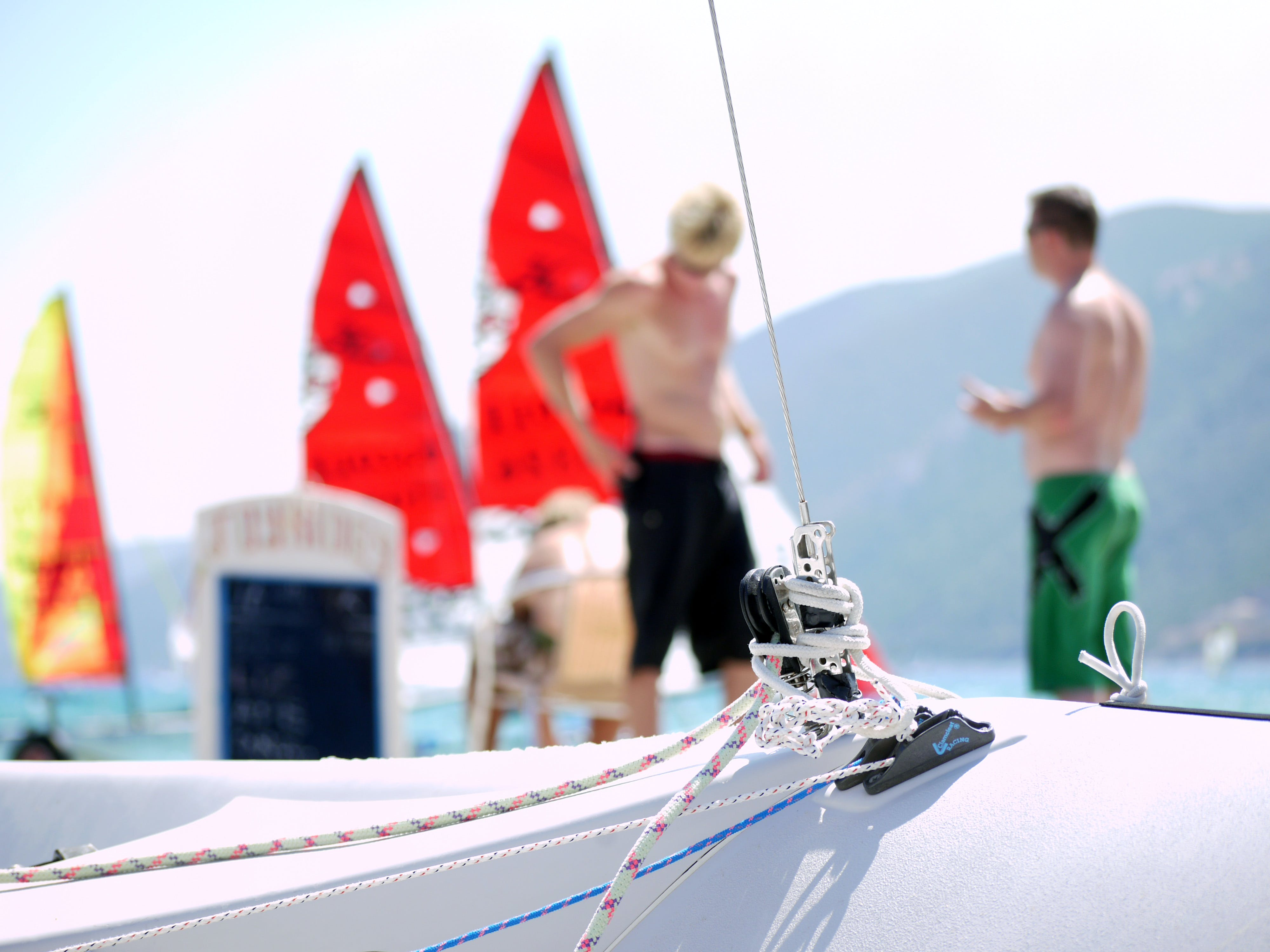 Free stock photo of rope, bokeh, greece, rigging