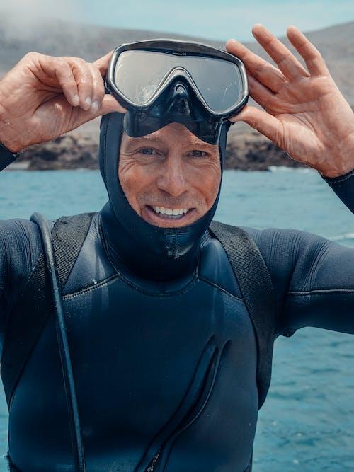 Photos gratuites de combinaison de plongée, eau, homme